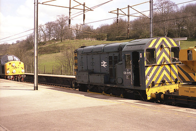08815 stands at Oxenholme during Sunday engineering work 24/4/83.