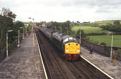 40122 arrives Appleby with the 10.40 Carlisle-Leeds, September 1983.
