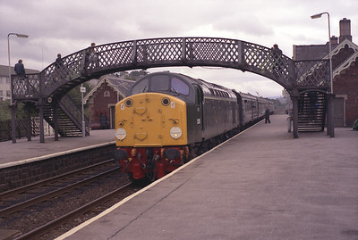 40122 arrives at Appleby, September 1983.