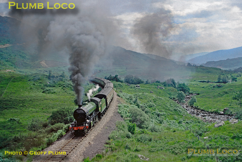 """3442 """"The Great Marquess"""", Glenfinnan, 25th July 1989"""