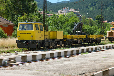 Plasser & Theurer On Track Plant DGS-42N. Pernik station. Friday 8th July 2016.