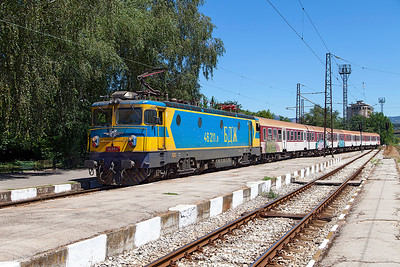 46 211 arrives at Pernik with train 5623 11.45 Sophia to Blagoevgrad. Friday 8th July 2016.