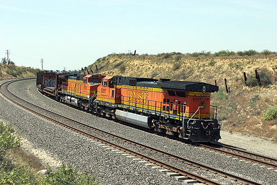The westbound manifest lead by BNSF 5473 also had two rear end helpers in the shape of BNSF 4823 & BNSF 5315 (both C44-9W's). 28/04/2007.