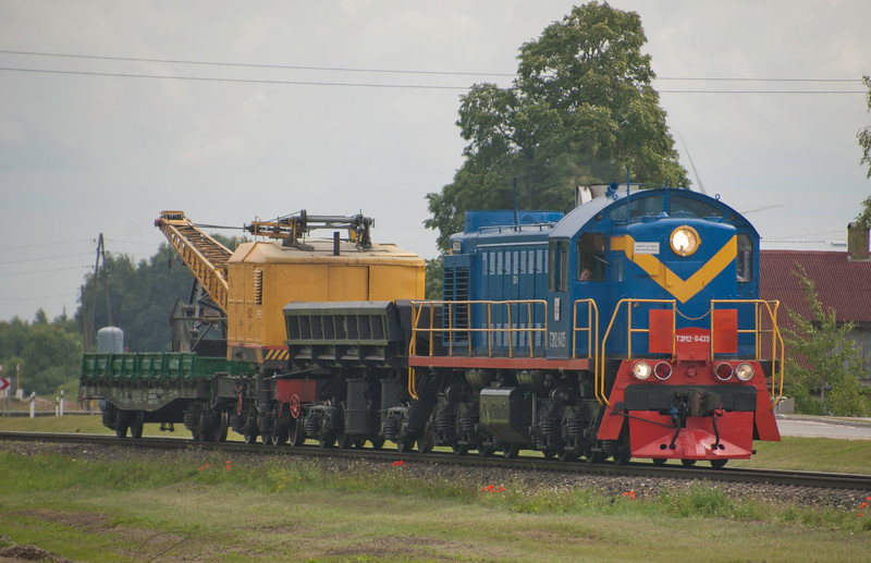 Some of these Soviet TEM2 shunters (first one built in 1959 and design looks like it) are still knocking around the Baltic states