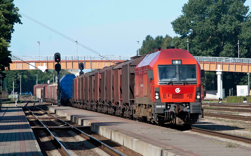 Eurorunner on mixed freight through Klaipeda