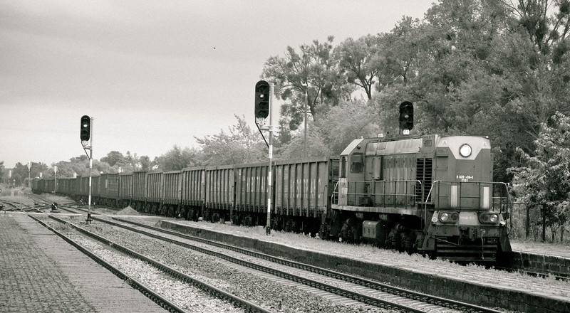 Freight train at Braniewo heading for the Kaliningrad border