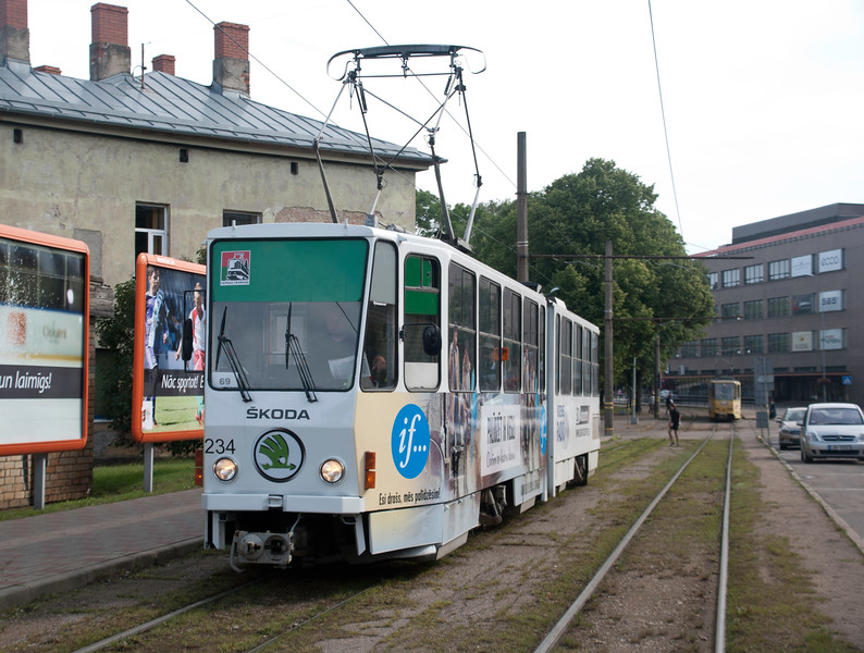 In the town centre - all of the trams are adorned with local advertising which is a trifle demeaning but after a while gets more endearing<br /> <br /> 2nd August 2017