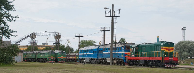 Masses of traction on shed - disproportionate to the amount of freight and the capacity of the single line mainline.