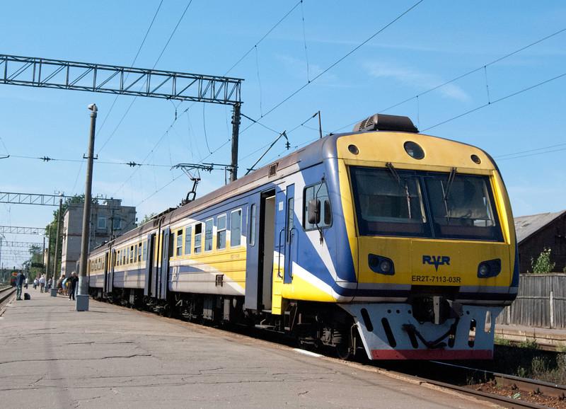 Jelgava to Riga unit at Jelgava station