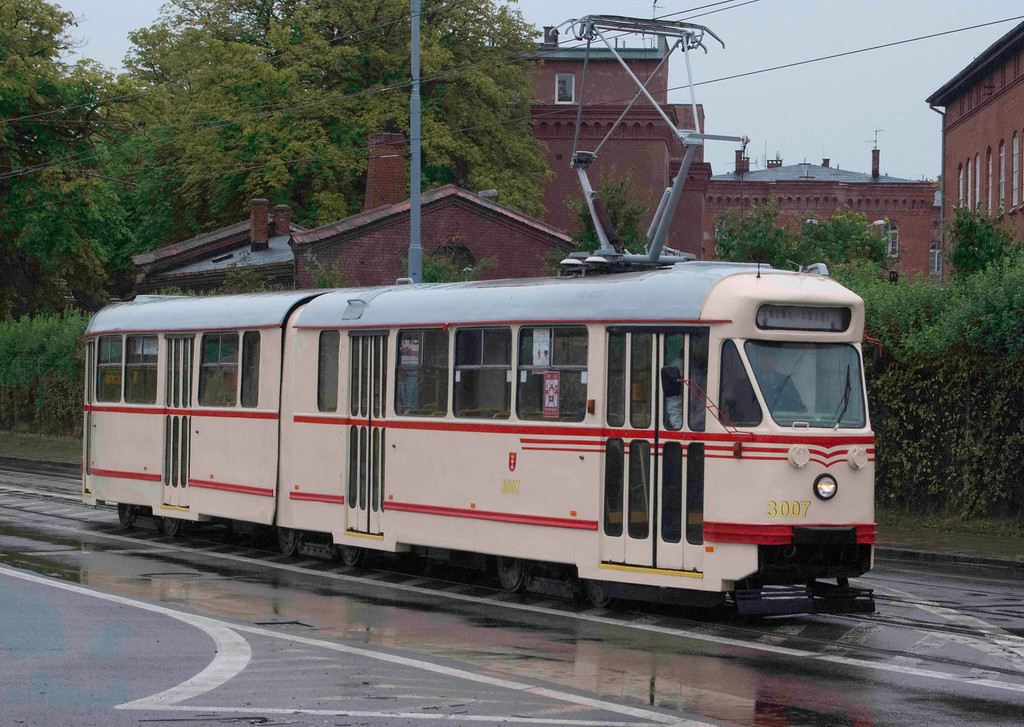 1970s tram at Port of Gdansk