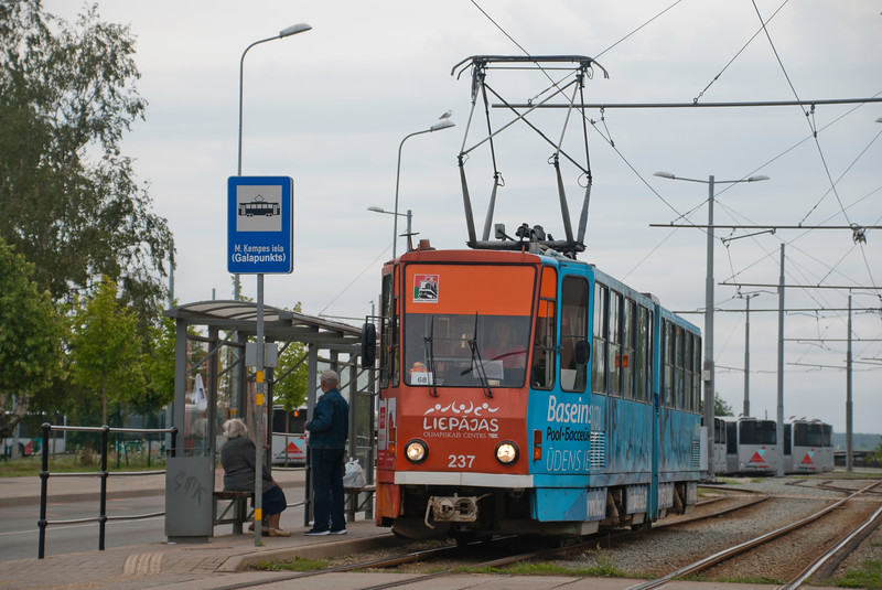 In 2017 all services were provided by Tatra KT4s - some of which are refugees from East Germany. <br /> <br /> 31st July 2017