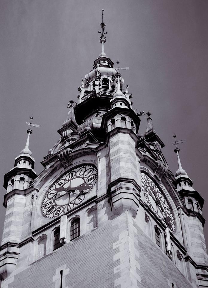 Gdansk station clocktower