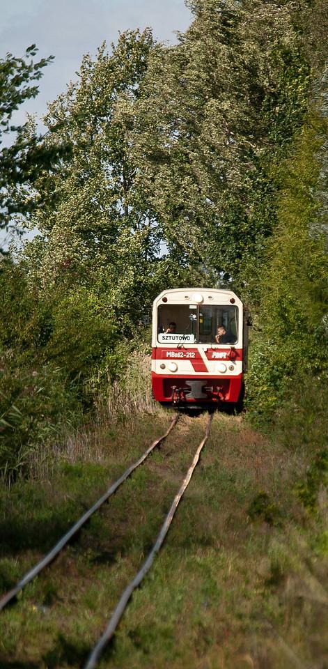 ZKD unit approaching Mikoszewo bound for Sztutowo