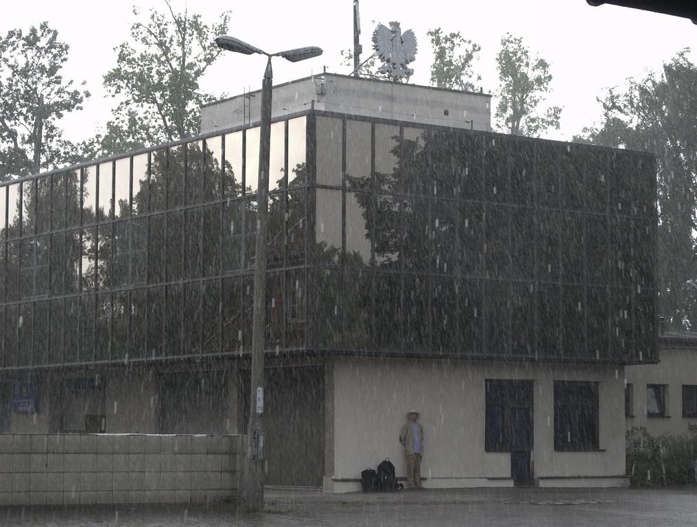 Border control building at Braniewo station