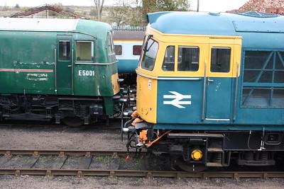 Southern profiles....E5001 & 33035 Barrow Hill 25/10/14