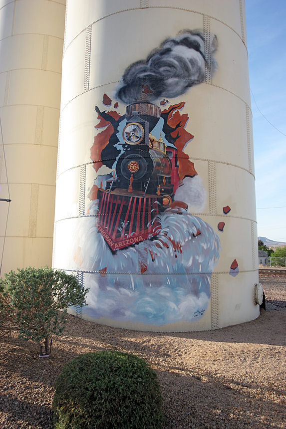 Water tank at Kingman, Arizona. 02/05/2007.