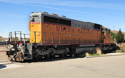 UP 9950 (SD40-2) preserved at Barstow Depot museum. 30/04/2007.