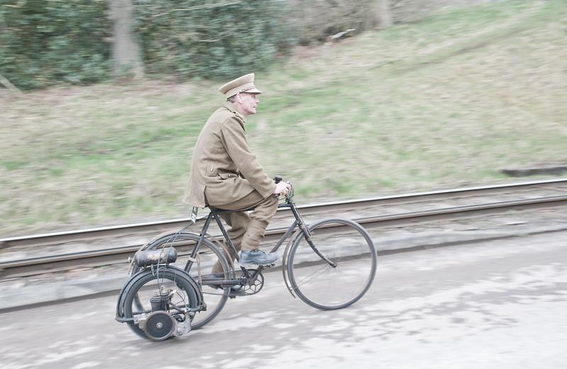 WW1 Powered bicycle - who knew?