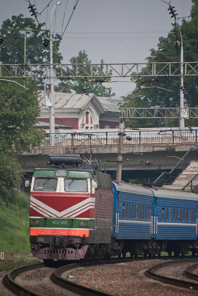 A steady flow of express passenger trains also pass through the platforms including (though this isn't it) the Moscow to Nice sleeper which saw but didn't manage to get a shot of
