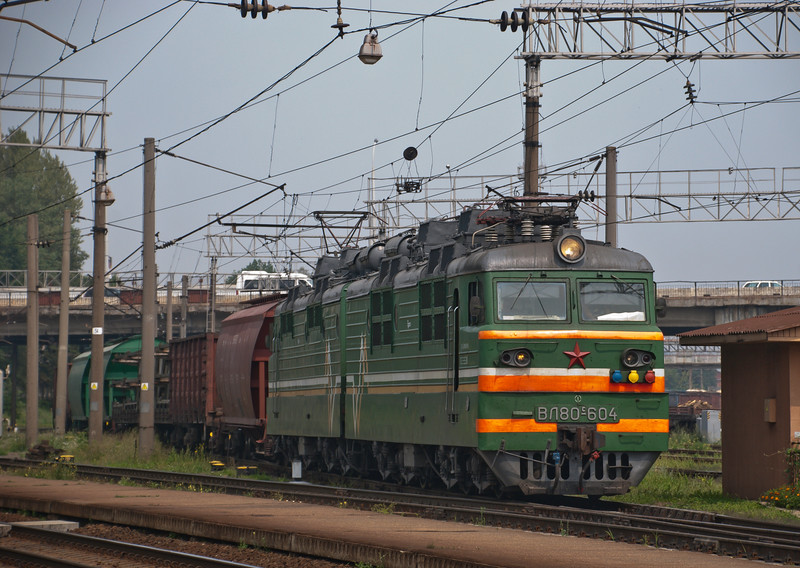 Endless combinations of the same few wagon types in the former Soviet Union on long slow moving clanking freight trains.