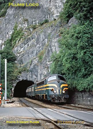 SNCB No. 5407, near Lustin, 24th August 1985
