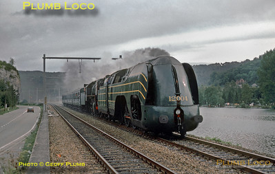 SNCB No. 12.004, River Meuse near Dinant, 24th August 1985
