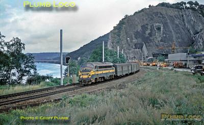 SNCB  No. 5404, near Lustin, 25th August 1985