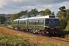 Class 108 car no's. 52064, 59250 & 51941 work the 12:43 Bewdley to Kidderminster at Rifle Range Heath 04/10/12.
