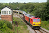 60039 Top and tails 60040 1Z61 13:30 Baglan Bay to Tower Colliery at Tondu 24/8/14.