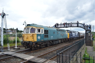 Class 33109 and 37703 at Bo'ness . 23rd July 2016.