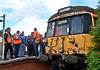 Scot-Railers meeting on the platform at Bo'ness. 28th July.