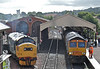 37175 & 66727 get wet during one of the many showers.28th July