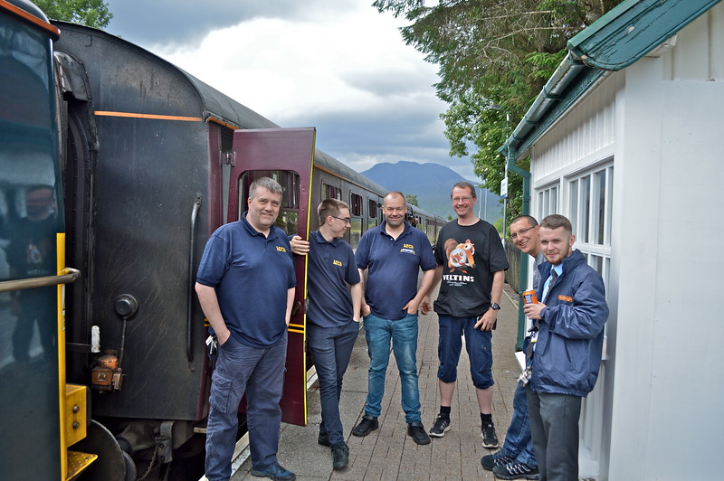 The team at Strathcarron.