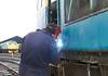 27001 ,welding of new grab rail bottom support.24th November 2012.