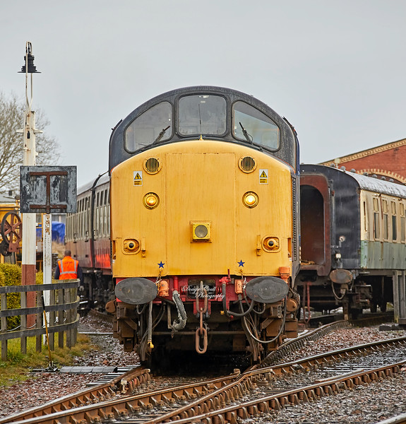 BR Type 3 Co-Co (37307/D6607) at Bo'ness Station - 28 December 2019
