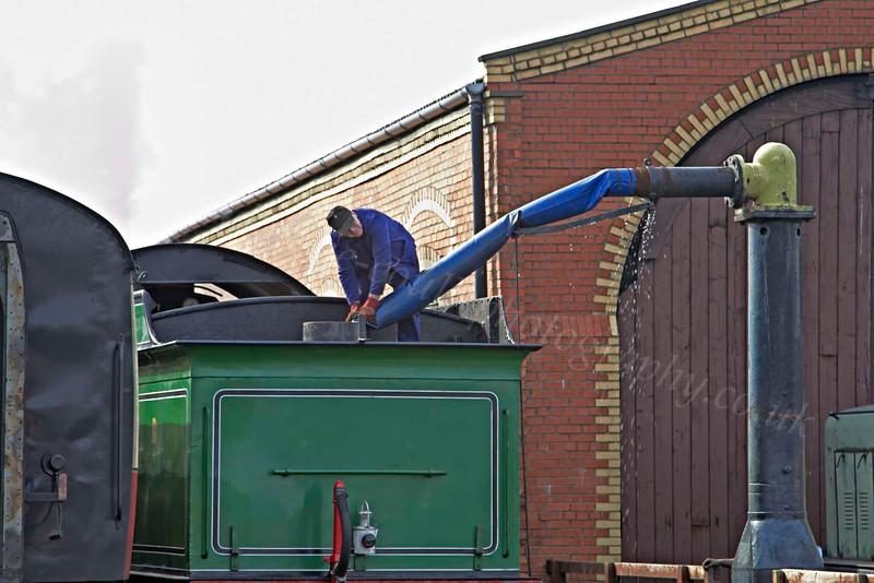 'Morayshire' Taking Water at Bo'ness Station - 25 July 2012