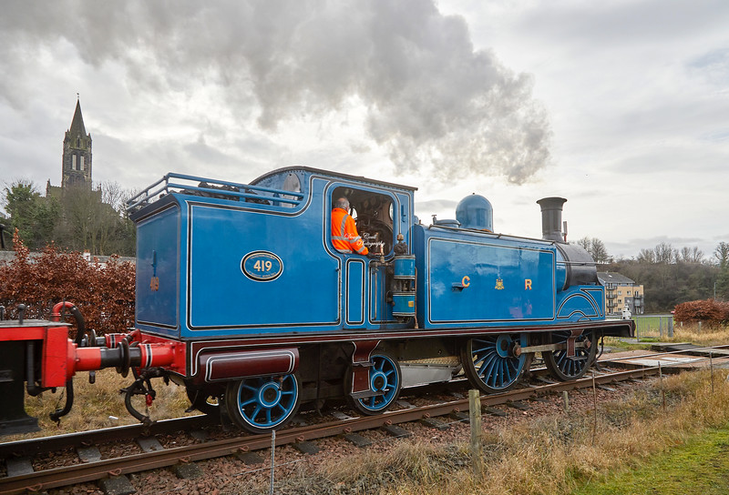 Caledonian Railway No.419 near Kinneil - 30 December 2018