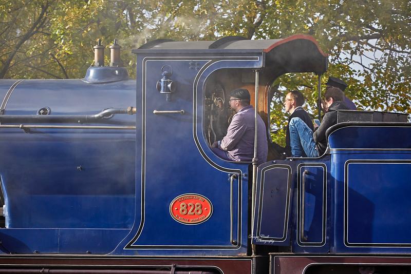 Caledonian Railway 828 at Bo'ness Station - 4 November 2018