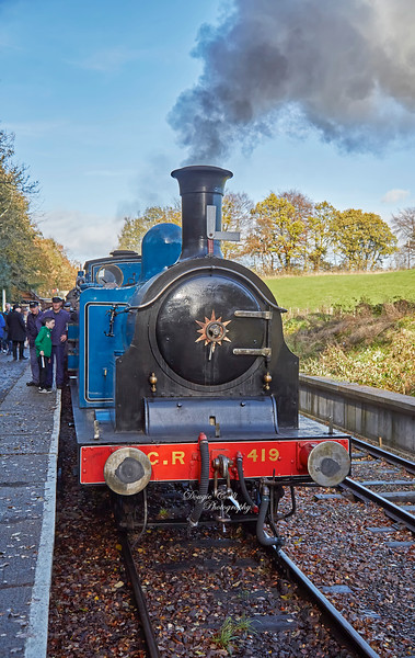 Caledonian Railway 419 at Birkhill Station - 4 November 2018