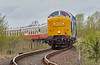 'Royal Scots Grey' diesel locomotive (55 022) at Bo'ness - 1 May 2016