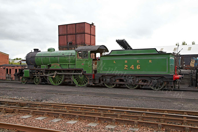 'Morayshire' Cooling Down Before Retiring to the Engine Shed - Bo'ness & Kinneil Railway - 8 July 2012
