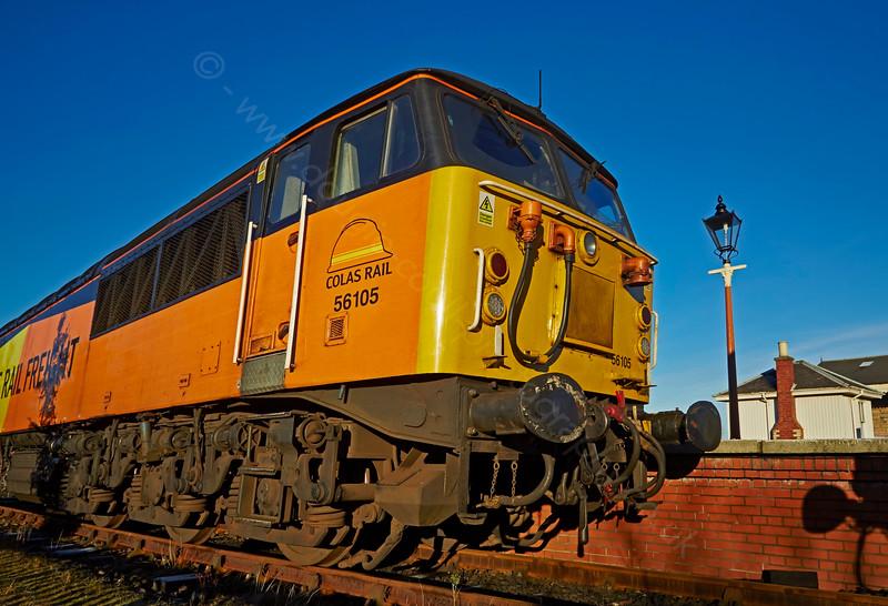 Diesel Locomotive 56105 at Bo'ness Station - 28 December 2014