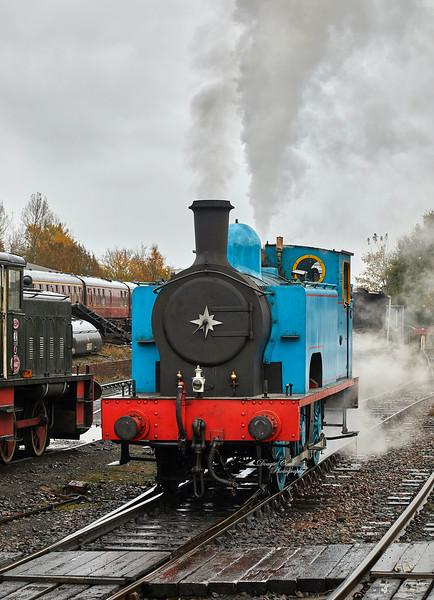 Loco No. 419 (55189) at Bo'ness Station - 3 November 2019