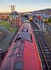 Diesel Locomotive 66721 'Harry Beck' arriving at Bo'ness Station - 28 December 2014