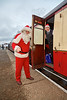Santa and one of his Helpers at Bo'ness Station - 18 December 2016