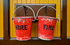 Fire Buckets at Birkhill Station - 22 March 2015