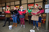 Bo'ness Belles Entertain at Bo'ness Station - 18 December 2016