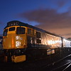 27001, 26038 and 37703 under the stars at Bo'ness.<br /> 24th October 2019.