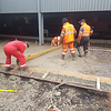 The new concrete storage area being created outside the diesel shed.<br /> 29th March 2019.<br /> Pic by AB