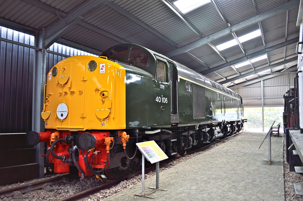 40106 inside the new shed adjacent to the Bo'ness MMPD.<br /> 1st August 2015.